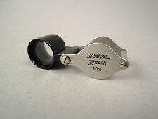 Loupe 10x folding magnifier magnifying glass by Busch, Rathenow Germany 1930s