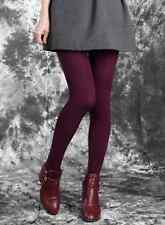 Wine Red Fashion Leggings Winter Fleece Thick Warm Slim Stretch Footless Pant