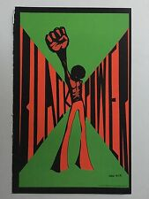 Blacklight Poster Pin-up Print Black Power & Stoned Agin' Again Double Sided