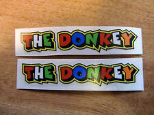 "Valentino Rossi style text - ""THE DONKEY""  x2 stickers / decals  - 5in x 1in"