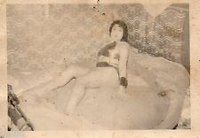 BK632 Carte Photo vintage card RPPC femme nue sexy chambre pin-up