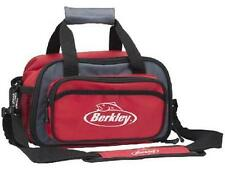Berkley Red Soft Sided Fishing Tackle Box Bag With 2 Plastic Storage Boxes Trays