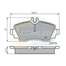 Sep 98 To May 04 Comline Front Brake Pads Genuine OE Quality Braking Service