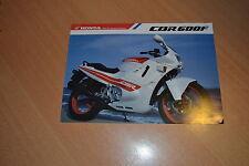 CATALOGUE Honda CBR 600 F de 1988