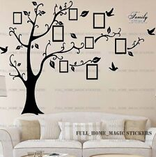 1.8M Black Family Tree Photoframe Birds Wall Stickers Art Decal Mural Home Decor
