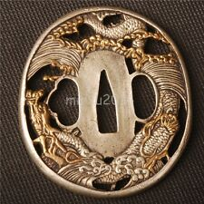 DRAGON  BRASS TSUBA HANDGUARD FOR JAPANESE KATANA & WAKIZASHI &TANTO SWORD