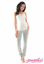 a8b99fd652a54 Purpless Maternity Pregnancy Over Bump Joggers Trousers 1307 12 Light Gray