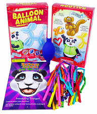 Balloon Animal University Qualatex 25 Balloons. Air Pump, Book and Video Series