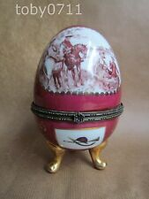 "REGAL PORCELAIN 6"" EGG SHAPED TRINKET BOX (Ref506)"