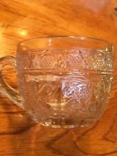 Bird & Strawberry Punch Cup EAPG Pattern Glass by Indiana free Shipping