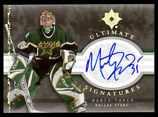 2006 07 UD ULTIMATE SIGNATURES AUTO MARTY TURCO DALLAS STARS SIGNED FREE SHIP