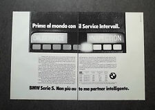 H855- Advertising Pubblicità -1982- BMW SERIE 5 , SERVICE INTERVALL