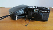 Rollei 35 LED 35mm Black camera w/ Triotar 40mm f3.5 lens,Case - GORGEOUS!