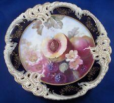 Nice 19thC Nymphenburg Porcelain Scenic Fruit Scene Plate Porzellan Teller