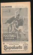 1965 Football Record Collingwood v Richmond Home & Away April 24 Magpies Tigers