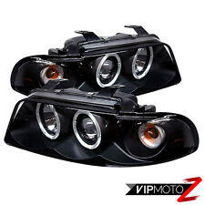 99-01 Audi A4/S4 Sedan New Pair 1PC Black Halo Projector Headlight Lamp Pair Set