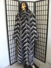 $2000.00 OFF BRAND NEW RANCHED CHINCHILLA FUR COAT JACKET WOMAN WOMEN SIZE ALL