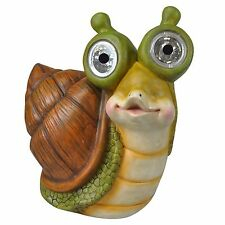 19cm Solar Powered Garden Animal Snail Light with white LED eyes Patio Ornament