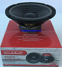 """1X Single 8"""" inch 8 ohm WOOFER Bass Speaker Studio Home Cabinet Box Replacement"""