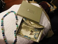 "HONORA Multicolor Freshwater Pearl 17"" Necklace Sterling Silver n box,New,pearls"