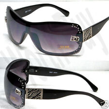 New DG Designer Womens Rhinestones Sunglasses Shades Fashion Shield One Lenses