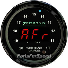 Zeitronix ZR-1 Air Fuel Ratio Gauge for Wideband Black / Red LED