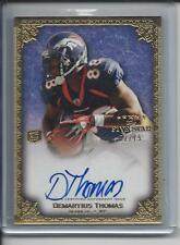 DEMARYIUS THOMAS 2010 TOPPS 5 FIVE STAR BRONCOS ROOKIE ON CARD AUTO RC #D 52/75