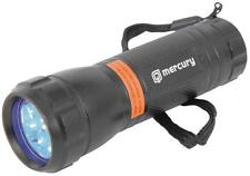 Mercury 410.335 Durable 9 LED Lightweight UV Torch Light Battery Powered Black