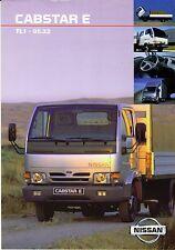 Nissan Cabstar E TL1 - 95.32 01 / 1999 catalogue brochure tcheque Czech rare