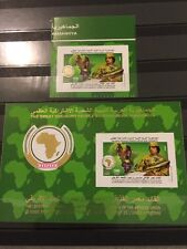 Libya Qaddafi 2009 Adhesive Stamp And SS Founder And Chairman African Union RARE