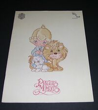 PRECIOUS MOMENTS PEACE LOVE COUNTED CROSS STITCH PATTERN BOOK SOFTCOVER OOP 1983