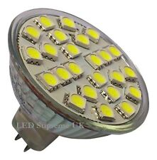 MR16 24 SMD LED 12V (10-30V DC) 350LM 3.5W Warm White Bulb ~50W