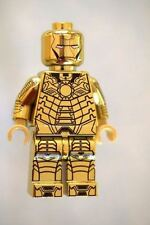 Custom Minifigure Chromed Gold Ironman Mark 41 Superhero Printed on LEGO Parts