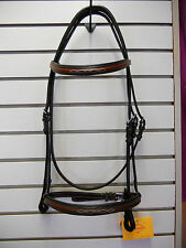 "NEW Edgewood Fancy Stitched Padded Bridle- 5/8""- Full Size- Newmarket"