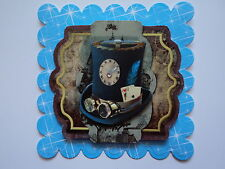 PK 2 STEAMPUNK HAT  TOPPERS EMBELLISHMENTS FOR CARDS/CRAFTS