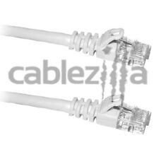 25FT Cat6 White Patch Cord Cable 500Mhz Network Ethernet Router LAN Switch