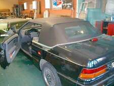 CHRYSLER LEBARON 87-89 CONVERTIBLE TOP+NONHEATED GLASS - BLACK PINPOINT VINYL