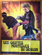 AFFICHE CINEMA film movie karaté kung fu LES GRIFFES MORTELLES DU DRAGON