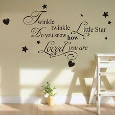 Vinyl Art Mural Wall Sticker Twinkle Little Star Decal Baby Kids Girl Room Decor