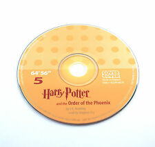 Harry Potter Order of the Phoenix Stephen Fry Audio Book CD SPARE DISC: FIVE 5
