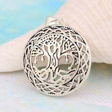 New HQ Black 925 Silver The Tree Of Life Necklace Pendant