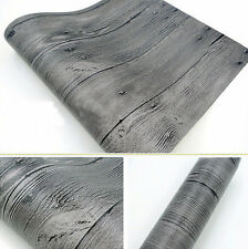 10M Double Roll Vintage Grey Realistic Wood Plank Panel Vinyl Desinged Wallpaper