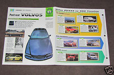 VOLVO CARS HISTORY 1947-1998 PHOTO BROCHURE 120 140 262C 760 Turbo 780 P1800 +
