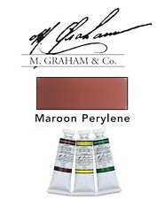 M Graham Watercolor 15ml Tube Maroon (Peyrelene) 33-113