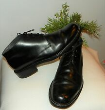 PARABOOT MENS BLACK LEATHER ANKLE BOOTS MADE IN FRANCE SZ 8K  $75.00