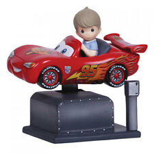 PRECIOUS MOMENTS DISNEY Figurine CARS McQueen Kiddie Ride Motioned MUSIC BOX
