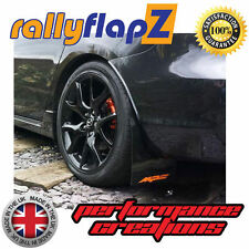 rallyflapZ to fit MAZDA 3 MPS 1st Gen(07-09) Mud Flaps Black Logo Orange 3mm PVC