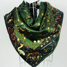 """""""Must have!! Classical 35""""x35"""" Elegant Handmade 100% Silk Square Scarf ●AS82#"""