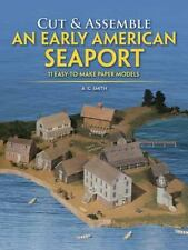 HO 1:87 Scale Early American Seaport Cut &  Assemble Card Model Book AG Smith