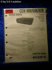 Sony Service Manual CDX 600 /606 /626 CD Changer (#4212)